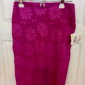 LuLaRoe Cassie textured pencil skirt